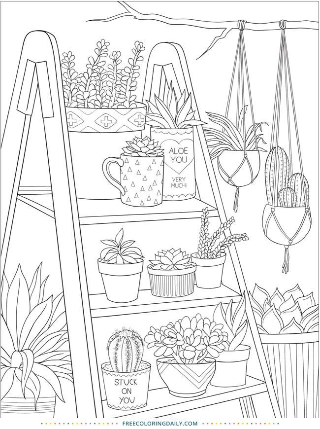 Free Plants Coloring Page Coloring Books Coloring Pages Coloring Book Pages
