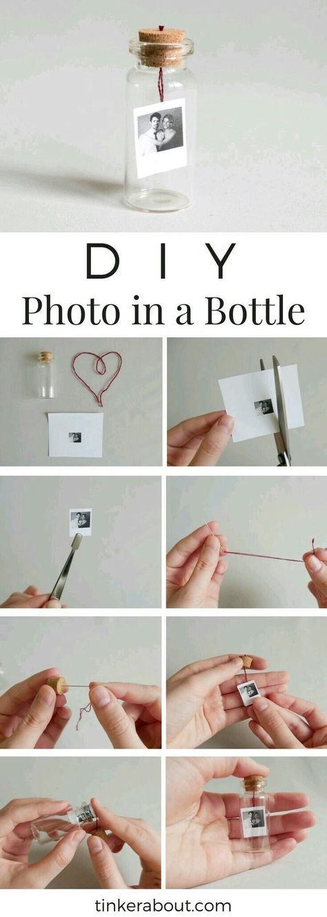 Foto im Miniglas – individuelles Geschenk zum Valentinstag