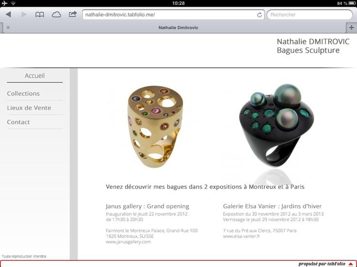 Maintenant, la créatrice de bijoux Nathalie Dmitrovic a son portfolio toujours sur elle sur son iPad qu'elle peut montrer même sans connexion internet tout en laissant l'adresse de celui-ci en ligne