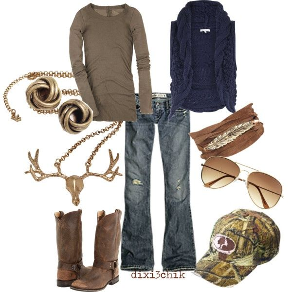 Just the farm girl coming through style: Fall Clothing, Weekend Wear, Country Girls, Southern Girls, Camo Hats, Country Looks, Necklace, Country Outfits, My Style