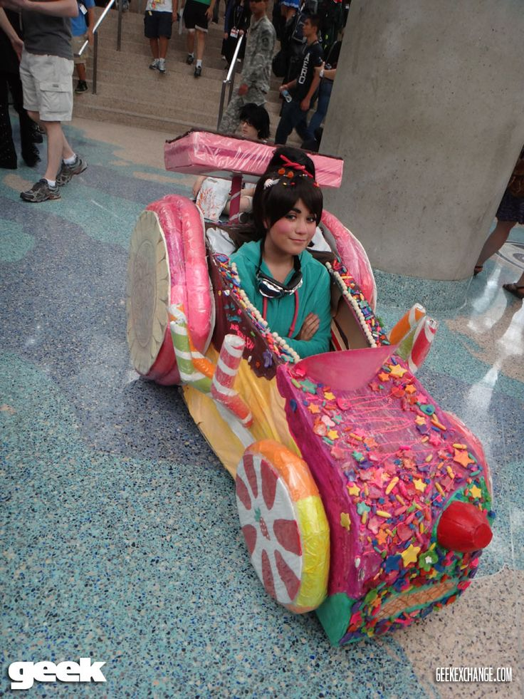 Going to make this to fit over Arnas wheelchair. wreck-it ralph vanellope kart costume | Vanellope Von Schweetz from Wreck-It Ralph
