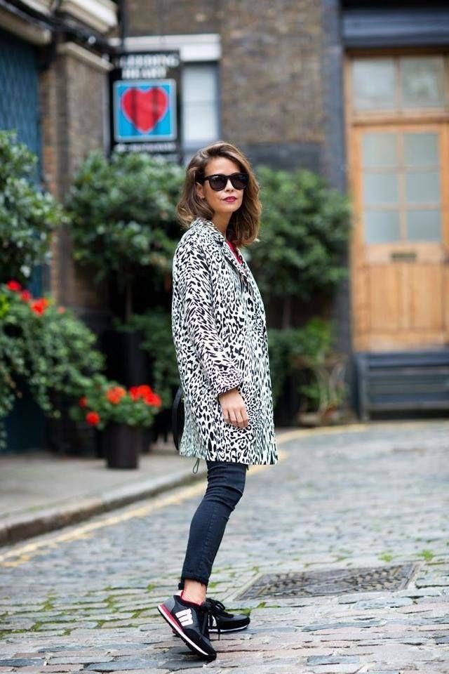 Leopard jacket + Sneakers