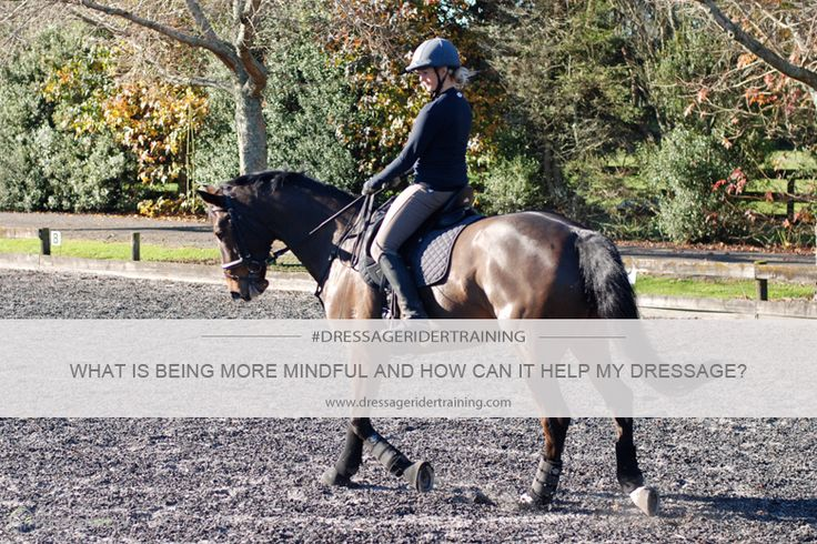 What is being more mindful and how can it help my dressage