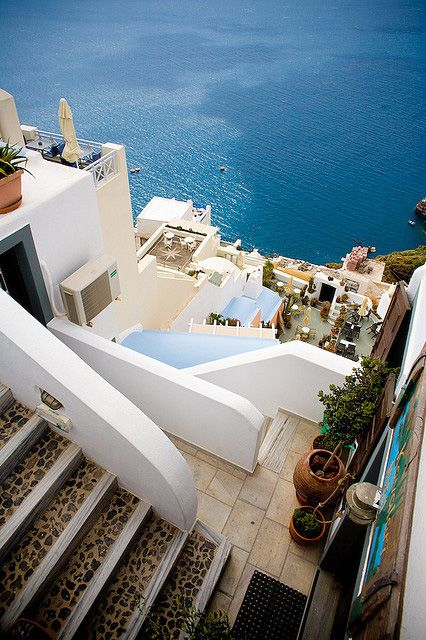 Steps to Blue - Fira, Santorini