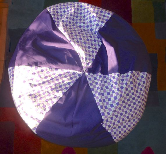 Argyle Purple Bean Bag Chair Cover  Gift Under by CopperBugCompany, $55.00