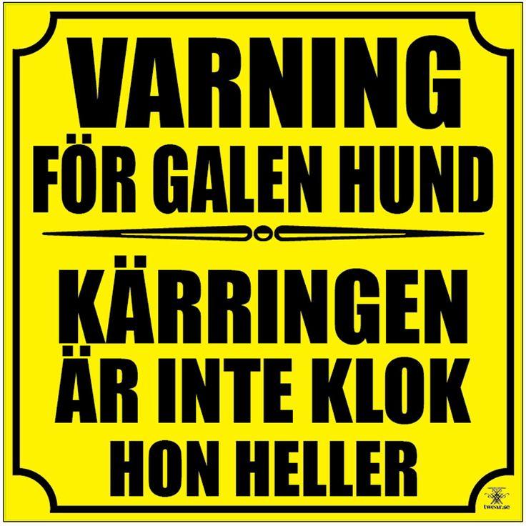 Varning för | Varning för galen hund. Klistermärke - Twear