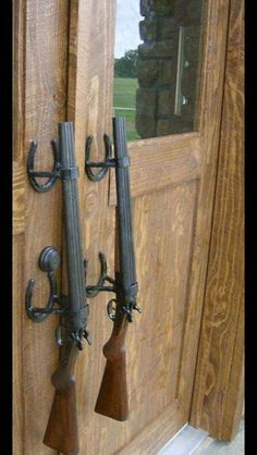 Wild West Six-Shooter door handles. Tia! When you open your bar ...