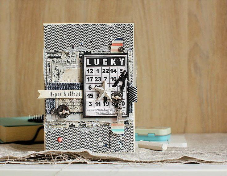 Djonny's creation...: Открыточка Lucky man и блокнотик для малыша.