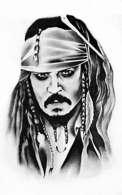 Капитан Джек Воробей пираты карибского моря Стикер Татуировки Поддельные Рукава Татуировки Водонепроницаемый Временные Татуировки