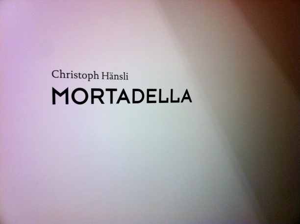 'Mortadella and Other Works', Christoph Hänsli @ Nolan Judin Galerie, August 24th, 2012   A repository of art events