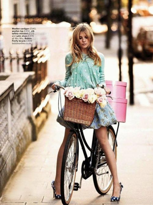Ride a bikeHats Boxes, Bicycles, Fashion, Style, Clemence Poesy, Bikes Riding, Baskets, Riding A Bikes, Flower