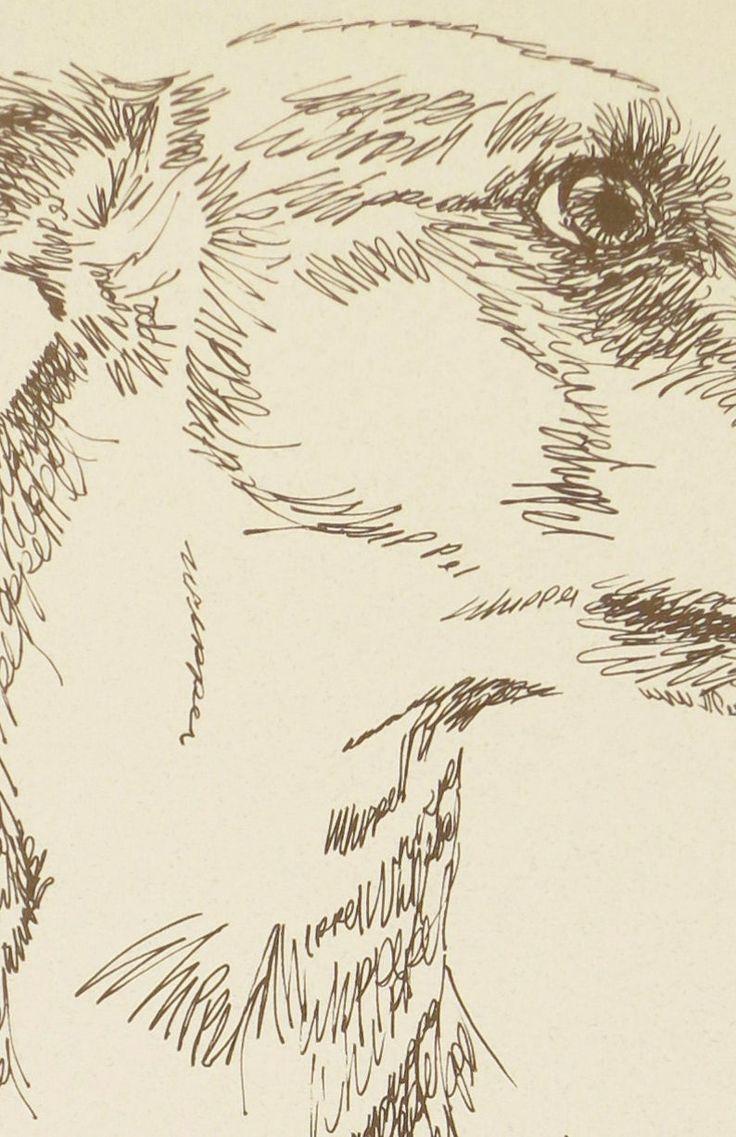 WHIPPET Artist Kline draws dog art using only words