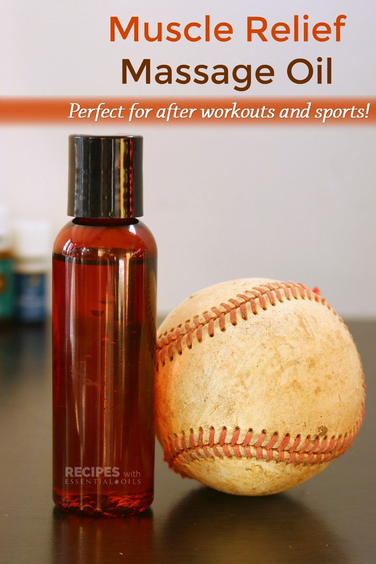 Muscle Relief Massage Oil: Perfect for After Workouts & Sports from RecipeswithEssentialOils.com