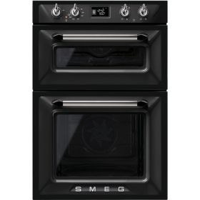 Smeg DOSF6920N Enamel Interior Double Multifunction Oven, A Energy. This oven features an automatic switch off when the door is opened, this reduces any chance of injury while using the appliance. The inner door glass can also be removed, this makes cleaning the inside easier and quicker for you. 10 cooking functions.