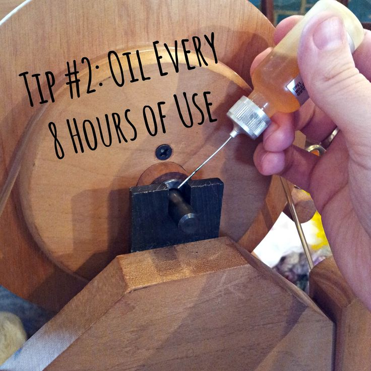 Oil Spinning Wheel After Every 8 Hours of Use