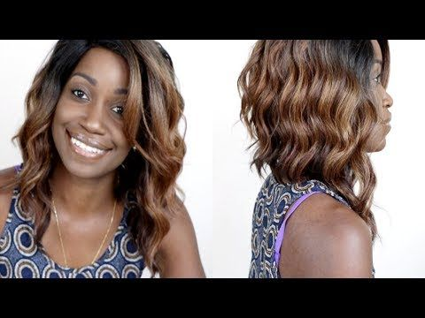 FREETRESS EQUAL CHASTY WIG! BEST CHEAP WAVY BOB WIG EVER! - YouTube