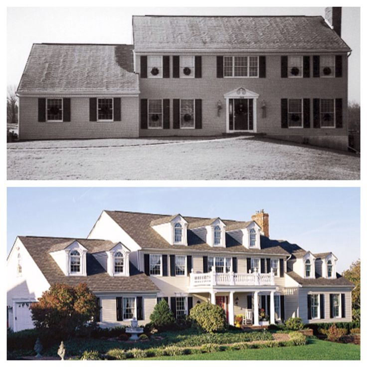 Curb Appeal Before And After Home Add Dormers A Porch
