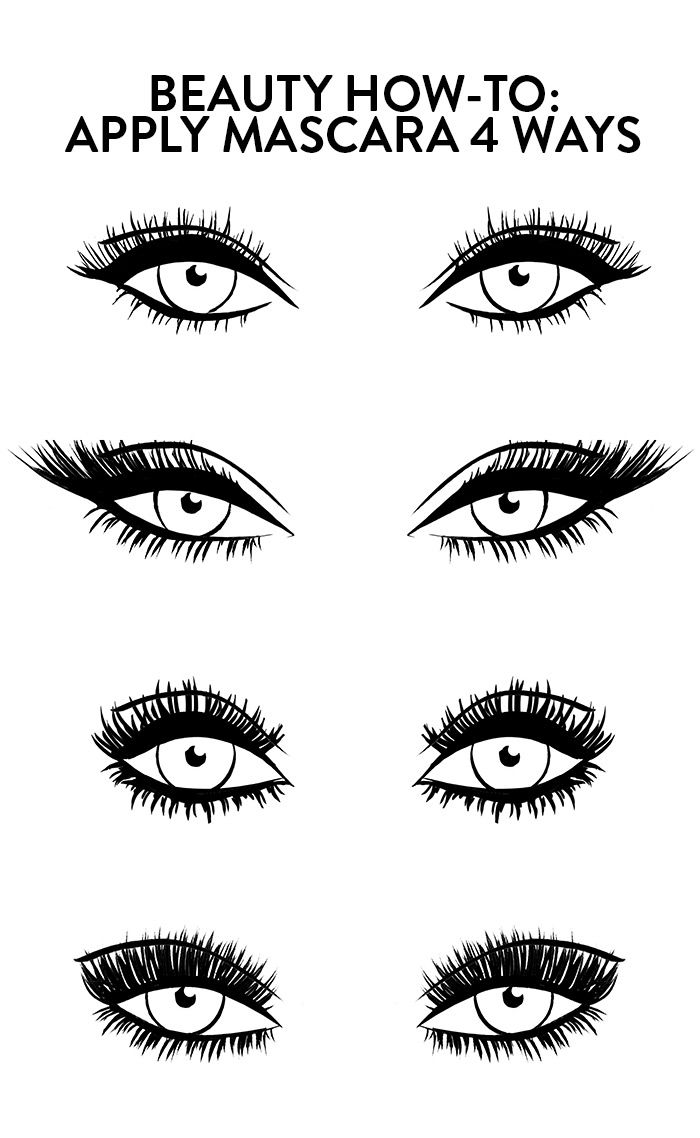 How to apply perfect mascara four ways.