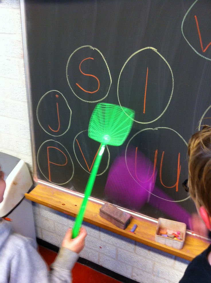 Swatting letters with a fly swatter...