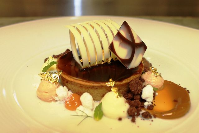 Coffee, Hazelnut and Chocolate Tart, Espresso Compound Glaze ...