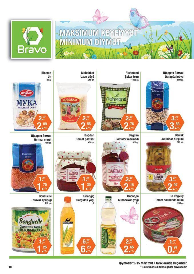 Gündəlik qida məhsullarının geniş çeşidi əla qiymətlərlə Bravo-da! The wide-range of daily consumption products is available at Bravo for great prices!