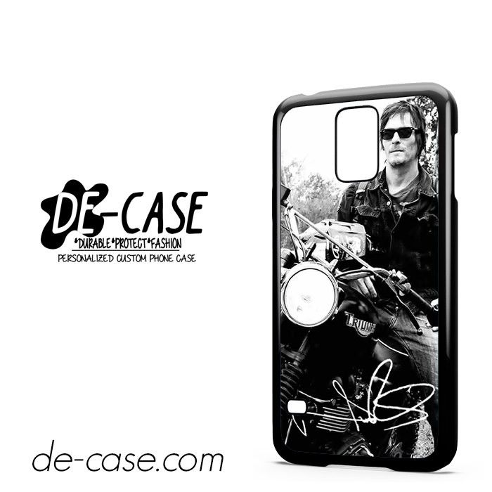 Norman Reedus And His Bike DEAL 8018 Samsung Phonecase Cover For Samsung Galaxy S5 / S5 Mini