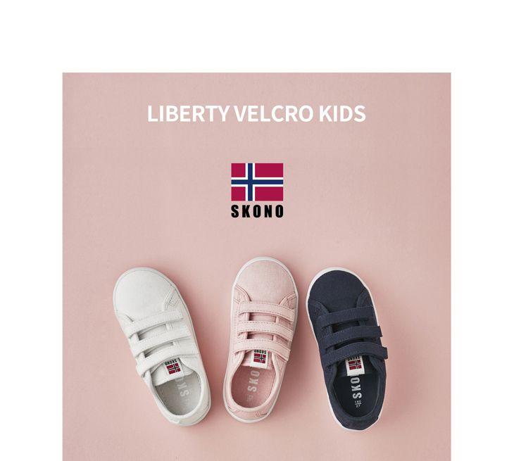 Scandinavian fashion sneakers(shoes) brand Skono liberty velcro canvas kids shoes. World licensee : SKONOKOREA Contact for sales(online, offline) : help@skonokorea.com