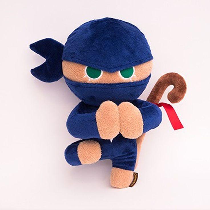 Korea Moblie Game Cookie Run Character Plush Doll 30cm 12in Ninja Cookie #Cookierun
