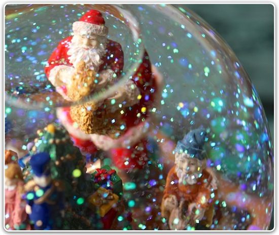 Beautiful Christmas Snow globe. So pretty. I love