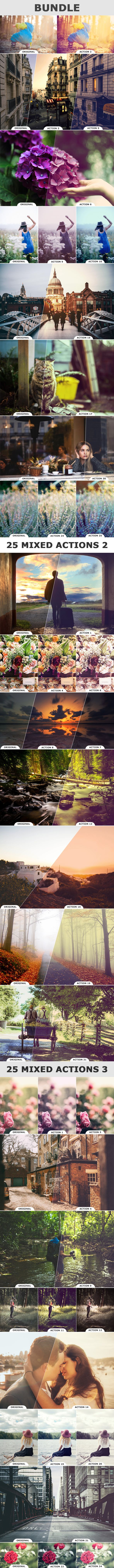 75 Mixed Actions BUNLDE - Photo Effects Actions