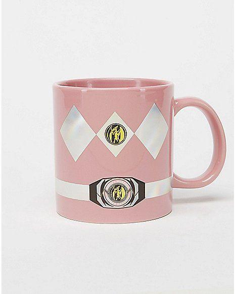 22 oz Pink Power Ranger Coffee Mug - Spencer's