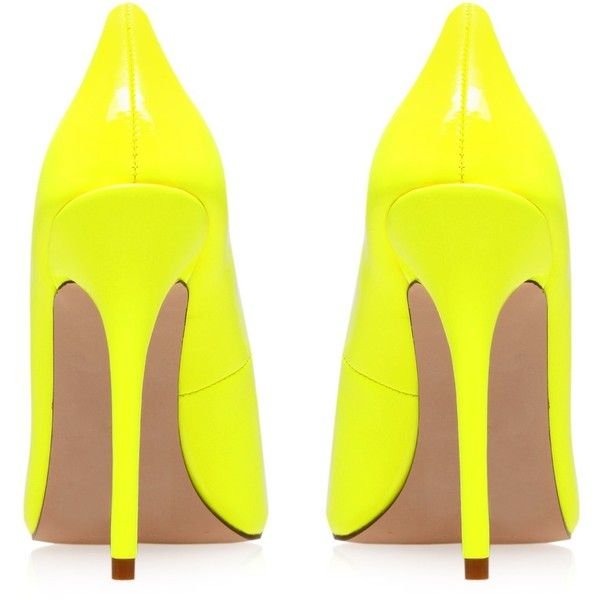 Gunning Carvela Kurt Geiger Yellow (48.845 CLP) ❤ liked on Polyvore featuring shoes, pumps, heels, yellow, neon heels pumps, yellow shoes, high heel court shoes, neon pumps and yellow high heel shoes