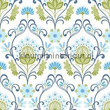 Kleurig bloemornament Eco Wallpaper 3877