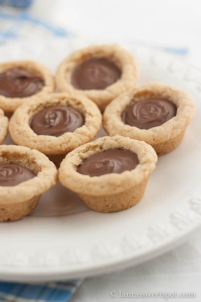 Nutella Cookie Cups. These were ridiculous. I fed them to our neighbors, who didn't really speak English and had no idea what I was saying to them. I hope no one had a nut allergy.