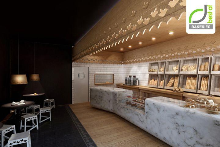 Роскошный интерьер пекарни и кафе Maxibread