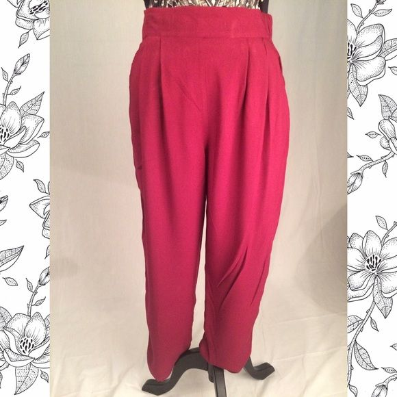 Red High waist Pants High waist red jogger pants. Dressy and comfy. Xhilaration Pants Track Pants & Joggers