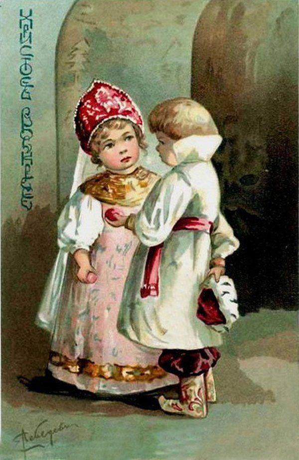 Пожеланием, русские пасхальные открытки