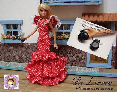 Patrones vestido muñeca sevillana. Feria de Abril