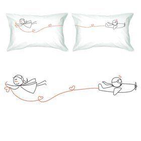 "BoldLoft ""Never Let Go"" Couple Pillowcases-Cute Valentines Gifts,Valentines Pillowcases,Valentines Day Romantic Gifts,Unique Valentines Day Gifts  #valentine gift"