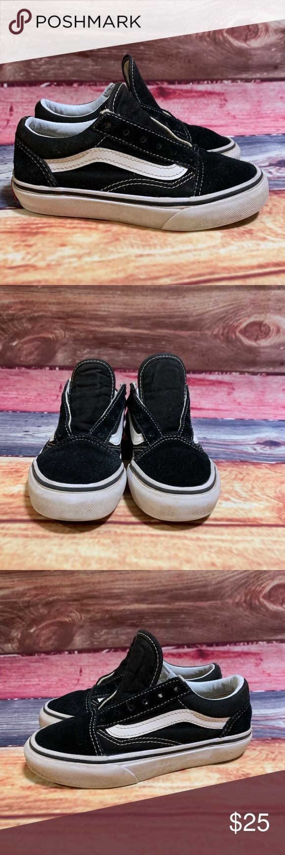 Vans Boys Youth Size 13 Old School Skate Shoe Vans Boys Youth Size 13 Old School Skate Shoe Pre-Owned Awesome Laces Not Inc. Condition is Pre-owned.  …