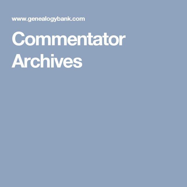 Commentator Archives
