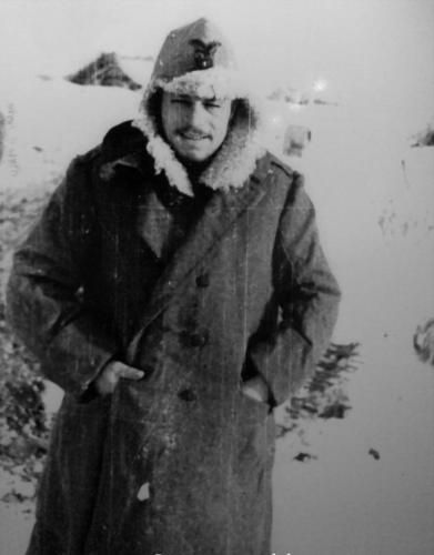Italian soldier from the Alpini division on the Eastern front, December 1942