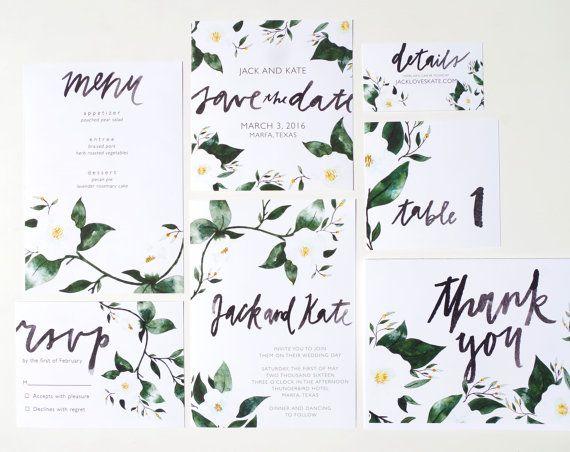 Druckbare Hochzeit Einladungsvorlage Floral von BethanyEdenArt