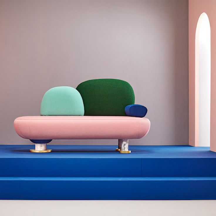 Masquespacio designs toadstool-shaped furniture for Missana