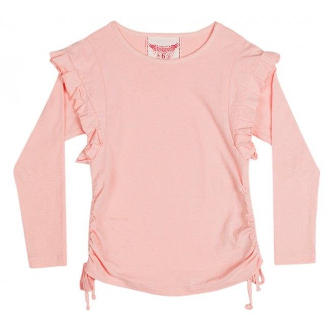 Drawstring T shirt with Frills