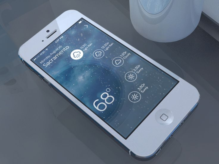 interaction menu weather iphone app ui animation