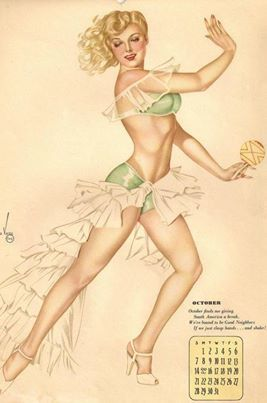 Back to 1945 with Alberto Vargas ... it's nearly October and here she is!!gu