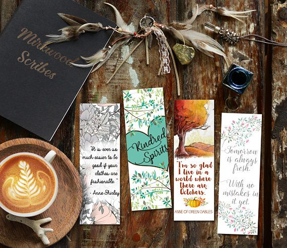 Printable Anne Of Green Gables Bookmarks A World Where We Have