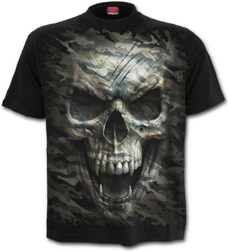 Camiseta Calavera Camo Skull  #spiraldirect #calavera #heavy #metal #rock #xtremonline