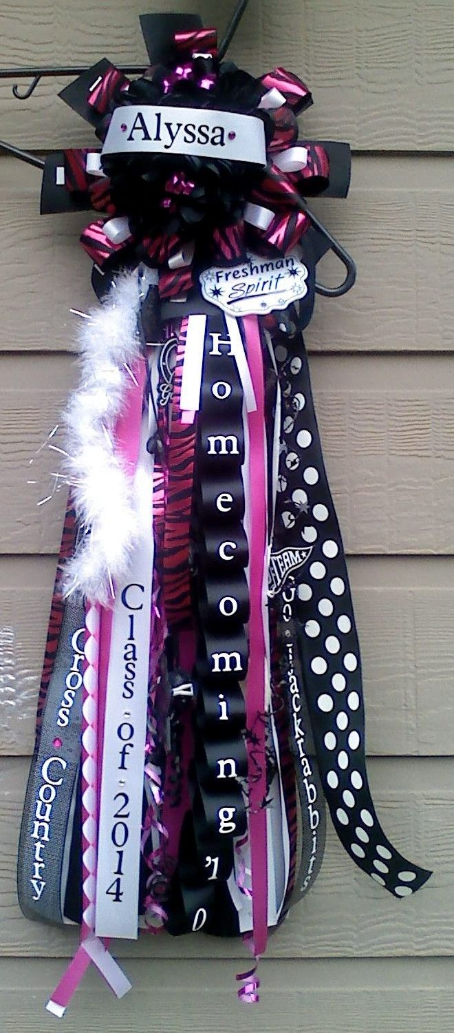 Homecoming Mum. Eden, please, please, please make one and try to get this Texas tradition started in Delaware.